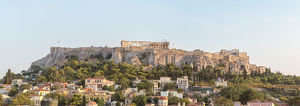 Acropolis hill at sunset. Athens, Greece
