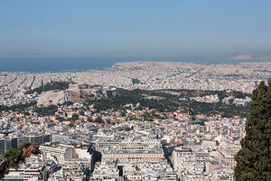 Acropolis from Lycavittos Hill in Athens
