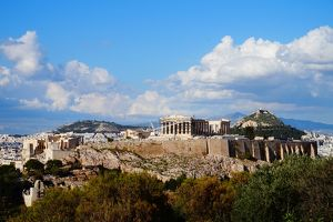 Acropolis, Pantheon, Overview, Athens, Greece