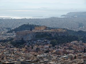The Acropolis, The Piraeus and The Ionic Sea from the Lycabettus Hill