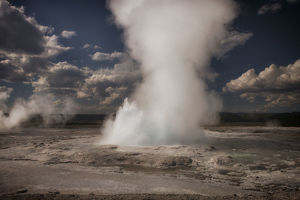 Active Geyser, Yellowstone National Park, Wyoming, USA