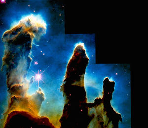 Hubble Space Telescope image of gaseous pillars