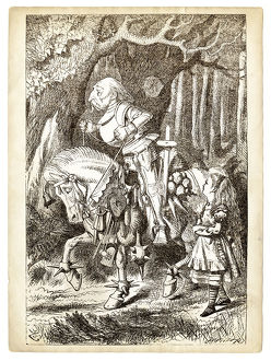 Alice and the white Knight engraving 1899