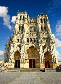 Gothic Amiens Cathedral, Notre Dame d'Amiens, UNESCO World Heritage Site, Amiens