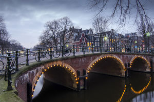 Amsterdam's Prinsengracht Canal at the Blue Hour