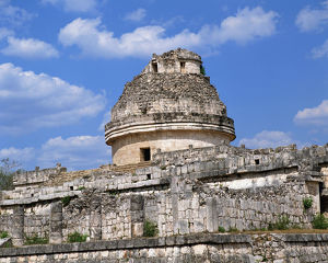 Ancient structure in Pre-Hispanic City of Chichen-Itza in Mexico