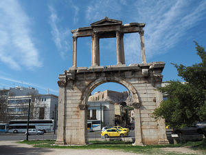 Arch Of Hadrian (Hadrian's Gate), Athens, Greece
