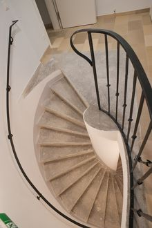 Spiral staircase of a house, Vienna, Austria