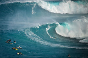 Big Wave Surfing Double
