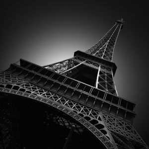 global landscape views/fred concha photography/black eiffel tower paris
