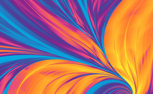 Bright Abstract Background, Flame Feather