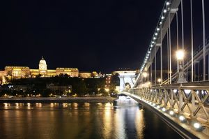 Buda Castle and Szechenyi Chain Bridge