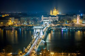 Budapest - Chain Bridge by Night