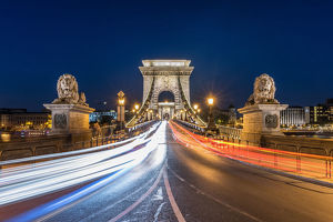 Chain bridge of Budapest , Hungary