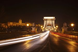 Chain Bridge at night - Budapest - Hungary