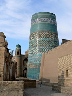 The city of Khiva in Uzbekistan