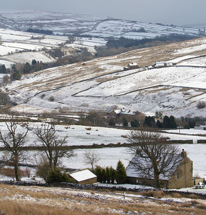 Classic Winter Scene in Northern England
