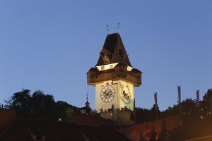 travel/photographer collections martin siepmann/clock tower schlossberg castle hill graz styria