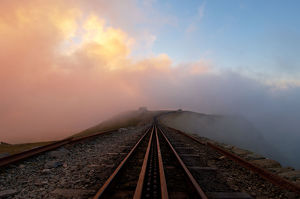 travel/photographer collections john finney photography/clogwyn railway station snowdon mountain railway
