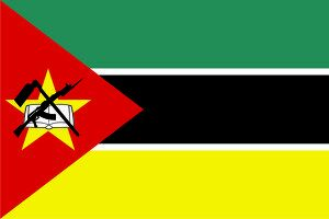 magical world illustration/flags world/close up flag mozambique