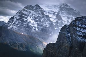 travel/unesco world heritage/dark clouds mount temple fairview mountain banff