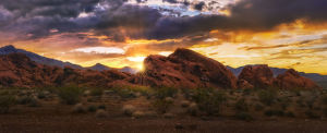 Dramatic Sunset at Valley of Fire State Park