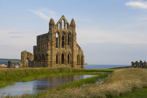 England, North Yorkshire, Whitby, Benedictine Abbey ruins