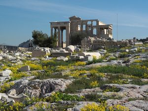 The Erechtheum On Athens Acropolis, Greece