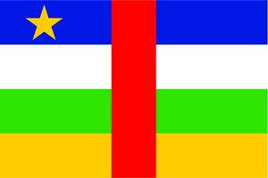 magical world illustration/flags world/flag central african republic