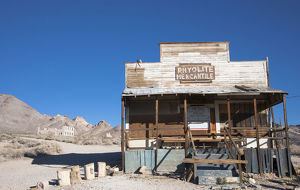 The ghost town of Rhyolite, Nevada