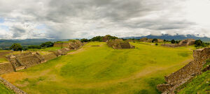 The Great Plaza. Monte Alban. Oaxaca. Mexico