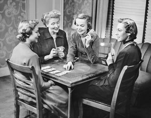 Group of women playing cards