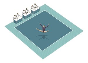 collections/dorling kindersley prints/gymnast performing square rubber floor mat panel