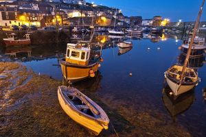 Harbour at night, Mevagissey