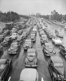 Head-On View Of Traffic Jam