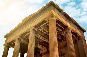 Hephaestus Temple in the Agora of Athens, Greece