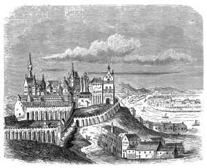 Hungary, Budapest, Buda castle, late 16th century, exterior view