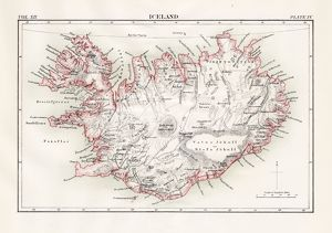 Iceland map 1881