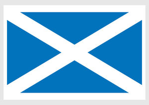collections/dorling kindersley prints/illustration flag scotland white saltire blue