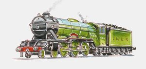 Illustration of the Flying Scotsman 4472 built in 1923