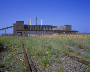 Intustrial ruin, abandond power station in PeenemAOEnde, DDR time, Germany