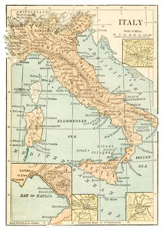 Italy map 1875