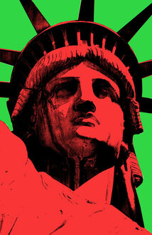 Lady Liberty Pop Art