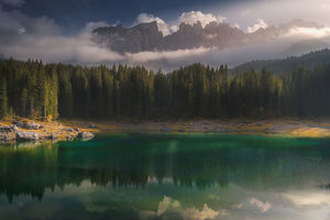 travel imagery/travel photographer collections coolbiere landscapes/lake karersee reflection