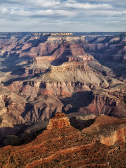 Landscape with canyon in Yaki Point, South Rim, Grand Canyon National Park, Arizona, USA