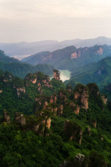 The Landscape of Zhangjiajie National Forest Park, Hunan, China