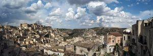 travel/unesco world heritage/large size panorama view matera basilicata southern