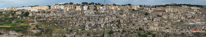 travel/unesco world heritage/large size panoramic matera gravina stone age