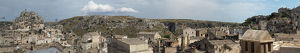travel/unesco world heritage/large size panoramic view matera oldest city