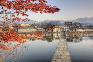 Late fall morning at Hongcun
